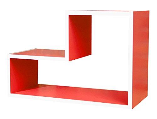 Cribel-Lego-Moduli-Legno-Laccato-Rosso-54x23x18-cm