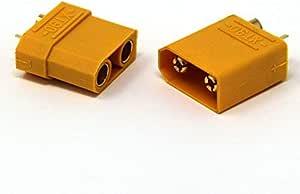 Molinorc 5 Paar Nylon Xt90 Hochstrom Stecker 10 Stück Male Und Famale Xt90 Stecker Xt90 Connector Xt90 Plugs Hochstrom Goldstecker Sport Freizeit
