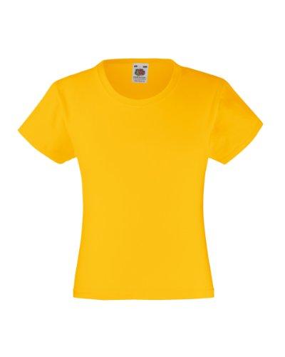 fruit-of-the-loom-t-shirt-en-coton-pour-fille-jaune-sunflower-12-ans