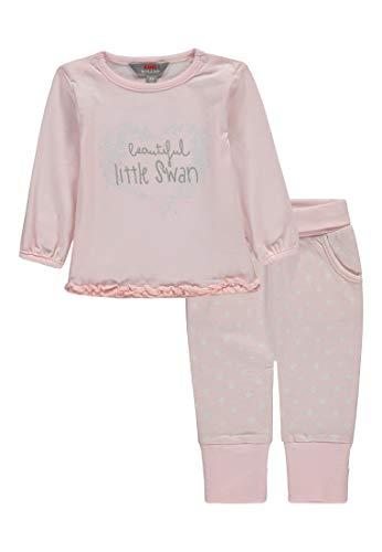 Kanz Baby-Mädchen Set 2tlg. (T-Shirt 1/1 Arm + Hose) Bekleidungsset, Pink (Ballerina|Rose 2096), 68