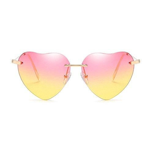 NANIH Home Herren Sonnenbrillen Damen Retro Love Ocean Slice Sonnenspiegel Street Beat Peach herzförmige Sonnenbrille (Beat Slice)