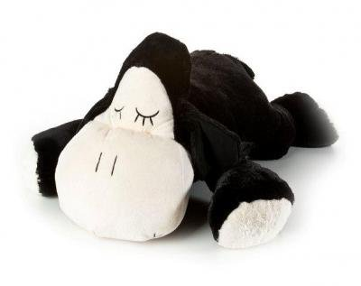 Inware 6618 - Kuscheltier Schäfchen Sleepy, schwarz, 18 cm, Schmusetier, Schäfchen (Schwarzes Plüschtier Schaf)