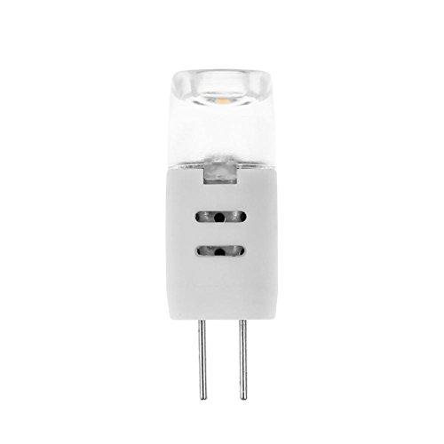 Matefielduk LED-Maisbirne G4 AC 12 V 1,3 W dimmbar SMD2835 2 LED Maisbirne für Kronleuchter aus Glas [Energieeffizienzklasse WW -