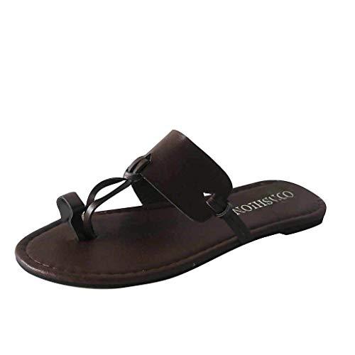 in Vendita! Nuove Ciabatte Unisex - Adulto Donne Pantofole con Punta Aperta Moda Infradito Interni per Interni Scarpe da Pavimento Scarpe con Punta Arrotondata con Suola Piatta per Donne di Kinene