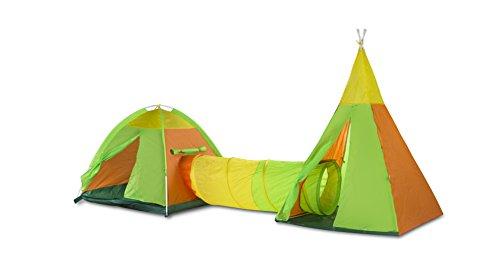ColorBaby - Pack de 2 tiendas de campaña con tunel, 340 x 112 x 135 cm (42766)