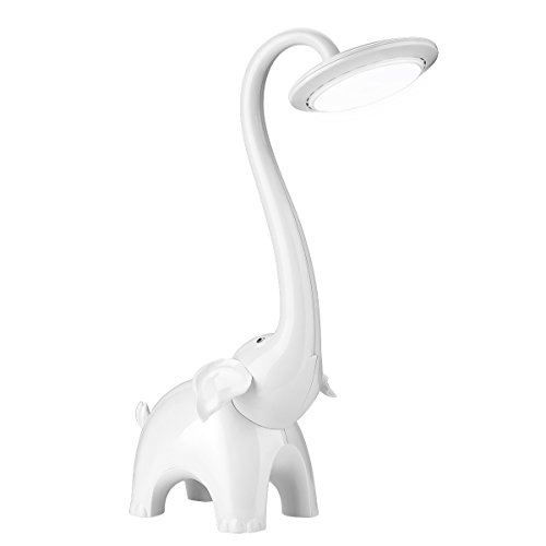 Le–Lámpara de mesa, Lámpara LED de escritorio 3temperaturas de temperatura regulable, LED Lámpara de mesa con USB puerto de carga y luz nocturna para niños Niño Niña, luz nocturna