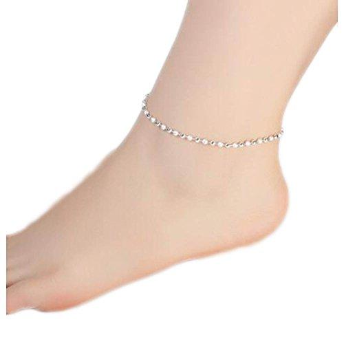 Decorazioni di ornamenti per cavigliera in argento sterling per donna-A15