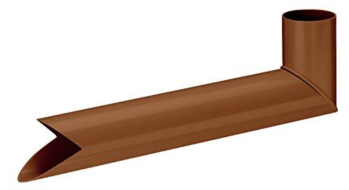 INEFA Wasserspeier DN 50, braun, Kunststoff, Regenrinne, Dachrinne