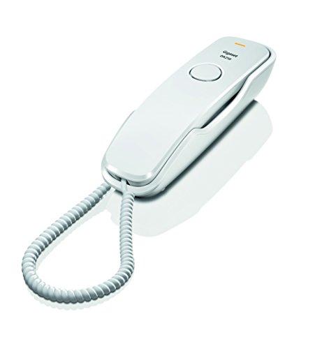 Gigaset DA210 Telefon – Schnurgebundes Telefon / Schnurtelefon – Stummschaltung / Mute – Analog Telefon – weiß - 2