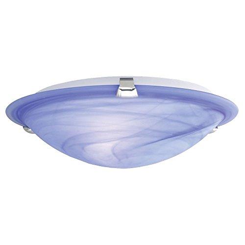 7W LED Deckenlampe Energie Spar Leuchte rund Metall Glas Alabaster blau - Alabaster Glas Leuchte