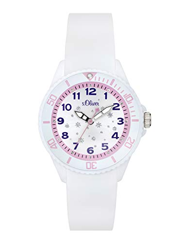 s.Oliver Time  Kinder Analog Quarz Uhr mit Silikon Armband -