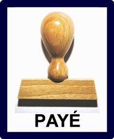 Le-ONs Wood Stamp - Tampon Bois L214: payé