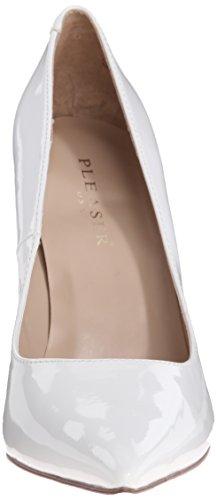 Pleaser  CLASSIQUE-20, Chaussures à talons - Avant du pieds couvert femmes Blanc - white pat