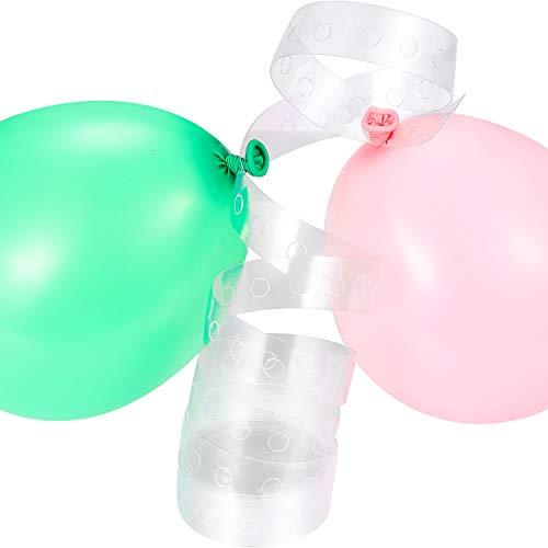 2 Stück Ballon Bogen Streifen Band für Hochzeit und Party Dekoration, 32.8 ft, Einfach zu Verwenden Große Alternative zu Ballon Bogen Kits