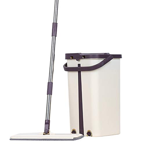 BIETUOTU Free Hand Washing Lazy Mop Bucket Magic Cleaner Spin Self-Wringing Squeeze Double Sided Swab Buckets Automatic Dehydration