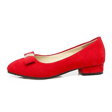 Talloni delle donne Primavera Estate altro vestito similpelle tacco grosso Altri Nero Rosso Beige Red