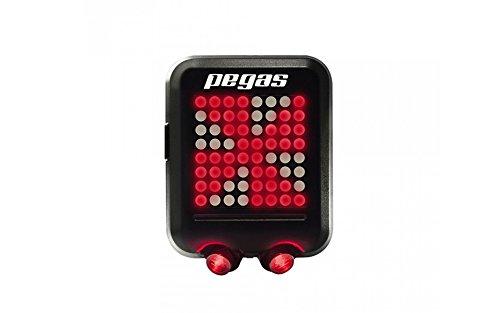Pegas Multifunktionales Fahrradlicht Automatische Induktionssteuerung - Rücklicht Gyroskop für sicheres Radfahren Hinten Rotes Licht - Straßenrandabgrenzung Wasserdichte LED - Fahrradrücklicht 35h Autonomie …