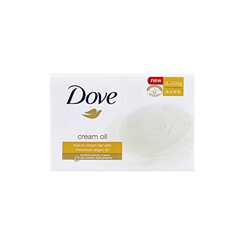 DOVE Savon Pain de Toilette Soin/Huile Surgras 4 x 100...