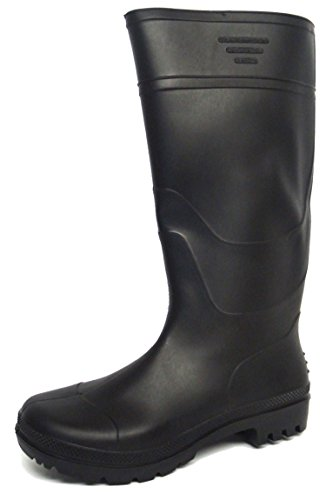 New Mens/Gents Black Full Length Rubber Waterproof Wellington Boots. - Black -...