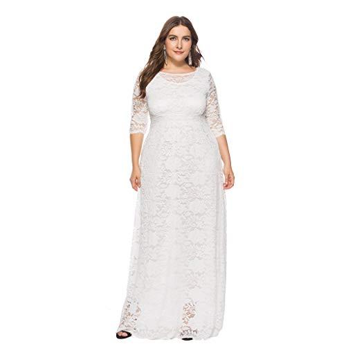 MERICAL Kleid Damen Solide Oversize Vintage Floral Spitze -