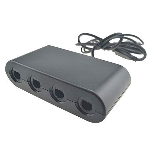 Morza Ersatz für Wii U-Switch PC USB 2 in 1 Gamecube-Controller 4 Port Schwarz-Konsole Gamepad Adapter