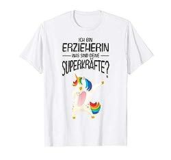 Ich bin Erzieherin was sind deine Superkräfte - Einhorn Dab T-Shirt