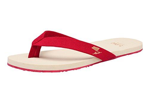 dqq hommes de toile pour plage Sandale Tong Rouge - rouge