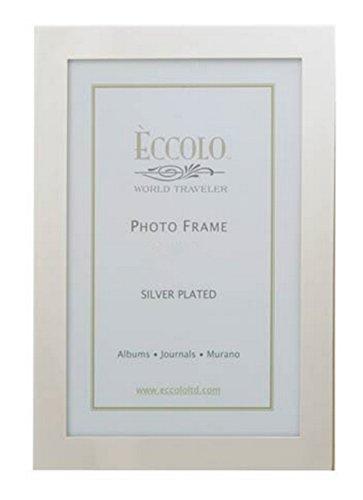 Wand-staffelei Bilderrahmen (ECCOLO Einfache Eleganz vergoldet Rahmen, silber, 8x 25,4cm)