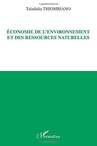 Economie de l'environnement et des ressources naturelles