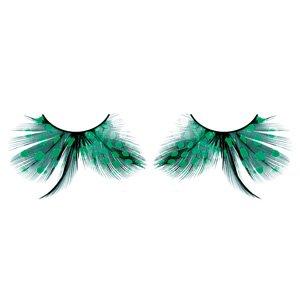 Faux Cils plumes Turquoise no: 603. Avec cils de colle gratuit!