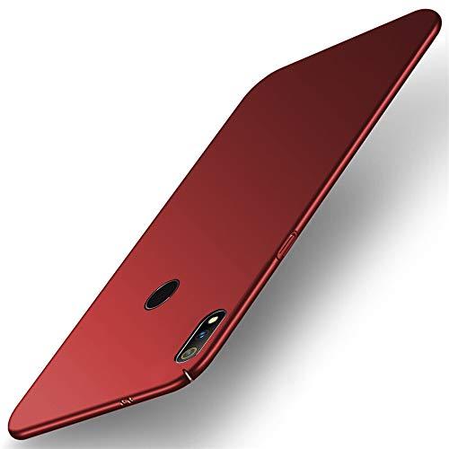 TheGiftKart Ultra Slim 360* Matte Velvet Feel Hard Back Case Cover with Camera Protection Bump for Realme 3 Pro (Red)