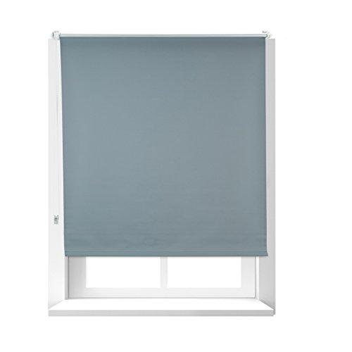 Relaxdays Store enrouleur occultant gris sans perçage 106 x 165 cm de large protège de la chaleur lxH 110 x 160 cm