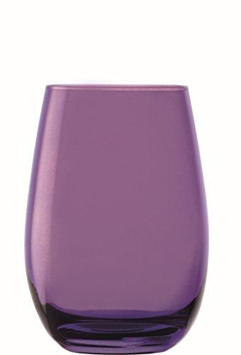 Stölzle Lausitz Elements Becher in lila, 465 ml, 6er Set Gläser, spülmaschinenfest, Bunte Trinkbecher, hochwertige Qualität (Gläser Lila)