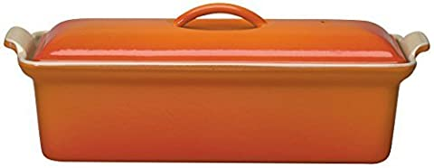 Le Creuset Enameled Cast-Iron 2 Quart Pate Terrine, Flame by Le Creuset