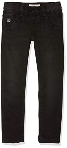 NAME IT Jungen Jeans NKMROBIN DNMTOM 7080 SWE PANT NOOS Schwarz (Black Denim), 134
