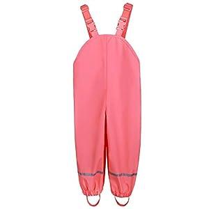 amiyan Kinder Regenhose Matschhose Wasserdicht RegenlatzhoseBuddelhose für Mädchen Jungen