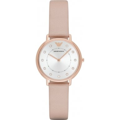 Emporio Armani AR2510 Ladies Dress Light Brown Leather Strap Watch