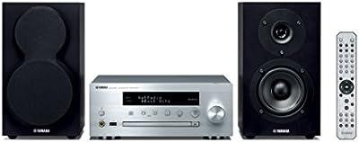 Yamaha MusicCast MCR-N470D - Microcadena, color plata y negro