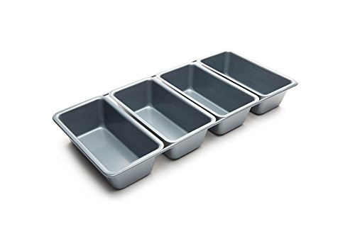 Fox Run 6.5 x 14.5 x 2 inches Linked Loaf Pans, Non-Stick - Non-stick Loaf Pan