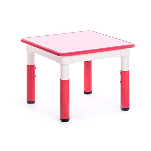 WFENG Kinder Square Plastic Tisch und Stuhl Set Höhenverstellbar Aktiv Essen Lesetisch Kindergarten Multifunktions-Installation ist einfach/B - Perfekte Stuhl Square Stuhl