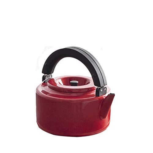 JXLBB Pot émaillé bouilloire rouge Accueil Flèche de gaz plat théière bouilloire avec filtre 2.3L