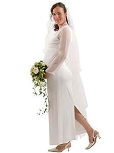 elegantes moderne Hochzeitskleid mit dem gewissen extra Brautkleid , M (38-40), creme off weiß