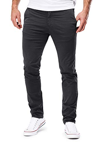 MERISH Chino Hosen Herren Slim Fit Jogger Hose Stretch Neu 401 (34-32, 401 Dunkelgrau) Slim Fit Chino