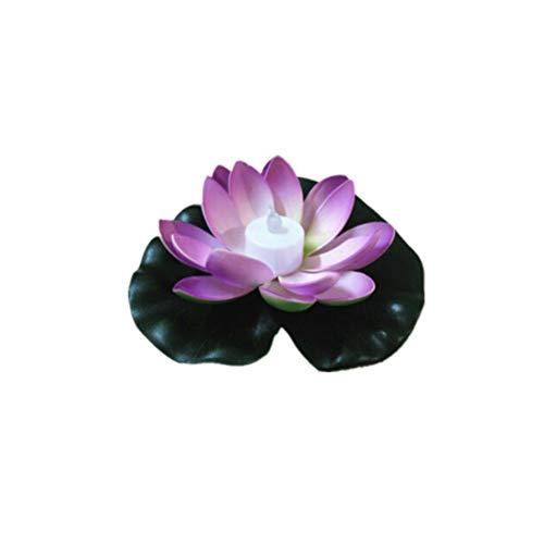 18 CM LED Lotus Licht Wasserdicht Outdoor Schwimm Teich Nachtlicht für Garten Schwimmbad party Garten Dekoration (Schwimmende Lotus Kerzen)