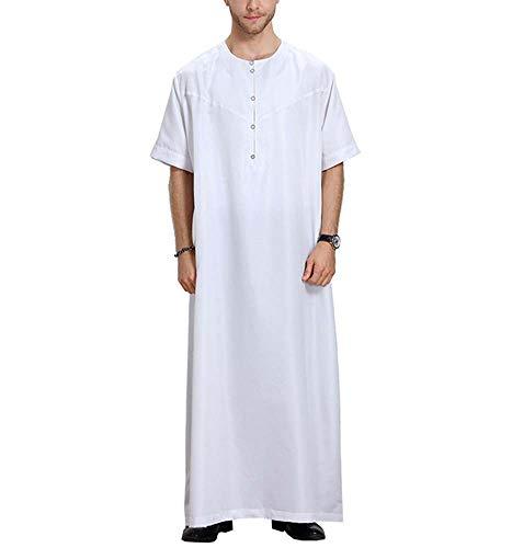 Domorebest Herren-Kurzarm-Robe, arabische muslimische Kleidung des Nahen Ostens Dubai (Nahost-kleidung Männer)