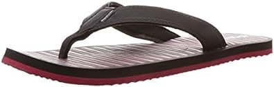 Reebok Men's Solar Flip Ii Lp Black and Red Flip-Flops and House Slippers - 11 UK