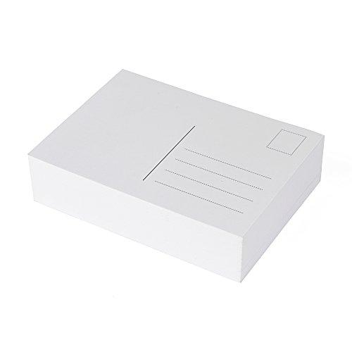 100 Blanko Postkarten weiß, Format A6, perfekt zum kreativen Basteln und zum gestalten individueller Postkarten (Postkarten Frankierte)