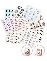 Nicedeco 15x Nagel Sticker Wrap Wasser Transfer Aufkleber Tattoo Tips Idee als Nail Art/Phone Case/Einladungskarten Dekoration TYP ()