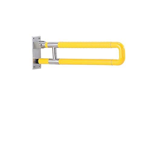 WSQGrab Bar Bad Handläufe Sicherheit Klappgriff Toiletten Senioren Behinderungen Edelstahl Sicherheitsunterstützung Haltegriff Balance Haltegriff (Color : Yellow, Size : 70CM) (Sicherheit Bad Bars)