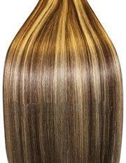 supermodel - 51 cm - BRUN FONCÉ / BLOND CLAIR MÉLANGE n°4 / 613 Extensions cheveux Remy Hair 100% naturel - chevelure complète à tisser/coller 100g